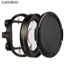Caenboo عمل الكاميرا مرشحات الذهاب برو بطل 3 + 4 قرب التعميم تصفية ل gopro Hero5 الماكرو المكبر عدسة محول عصابة سوداء