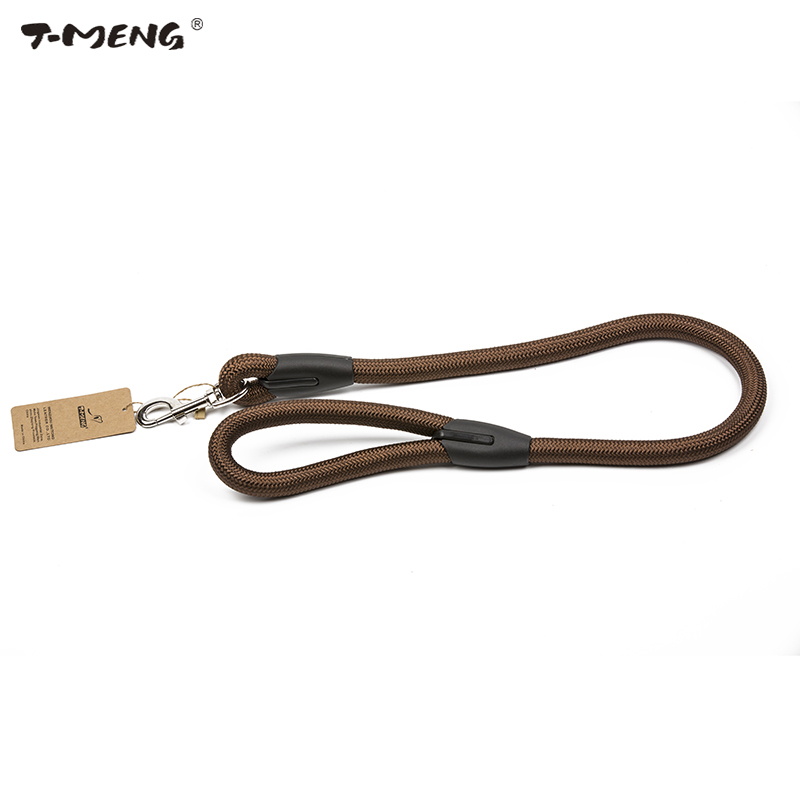 T-MENG Pet Dog Leash Nylon Round Rope Dog Leashes Strap 90CM Security Training Walking Leads Goods For Pet Products ...