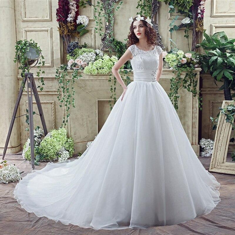 Lace Diamonds White Chapel Train Princess upscale 2018 new Women s elegant  long gown party proms brides Weddings dresses 22-in Dresses from Women s  Clothing ... 91cba97a530e