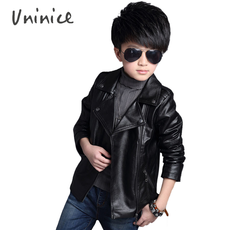 Aliexpress.com : Buy Baby Boys Leather Jacket Outerwear Kids Girls ...