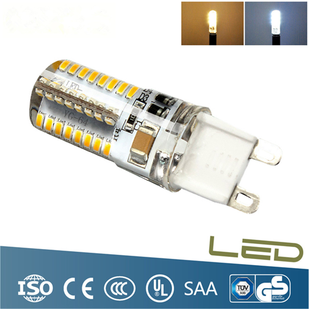 20pcs Silicone Material Low Power Consumption 6W G9 LED Lamp AC 220V Bulb SMD 3014 White Light 360 Degree Angle Spotlight