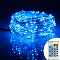 12m 240Leds Silver Wire Warm White LED String Lights Starry Lights Christmas Fairy lights+EU/US/UK/AU Adapter+Wireless Remote