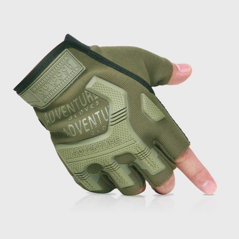 Men/'s Half Finger Gloves Carbon Antiskid Military Workout Shooting Riding Gloves