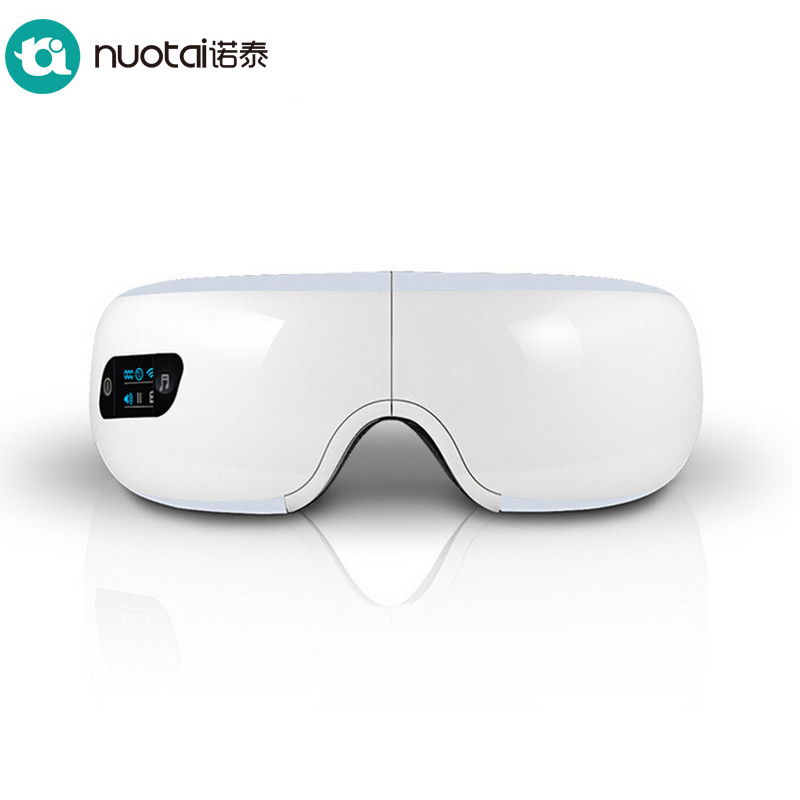 NUOTAI Electric Air pressure Eye Massager with mp3.Wireless Vibration Magnetic Heating Therapy Massage Device.Myopia Care Device abs electric eye care massager magnetic therapy vibration alleviate fatigue dark circles alleviate massage healthy care