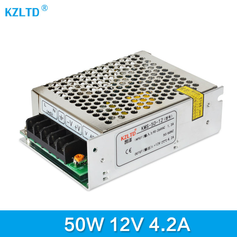 12V Power Supply 50W AC-DC 220V / 110V to 12V Universal Regulated Switching Power Supply for LED Light Radio Computer Project meanwell 12v 350w ul certificated nes series switching power supply 85 264v ac to 12v dc
