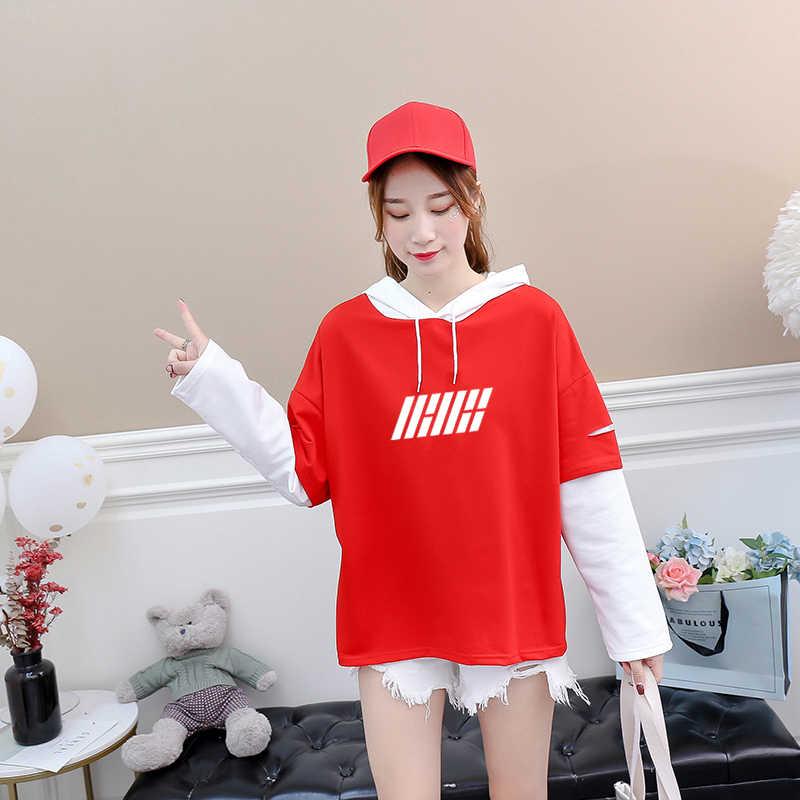 2018 Harajuku T Shirt Women Letter Print Streetwear Hip Hop Tshirt Cotton  Long Sleeve Patchwork Casual 0833caefbabe