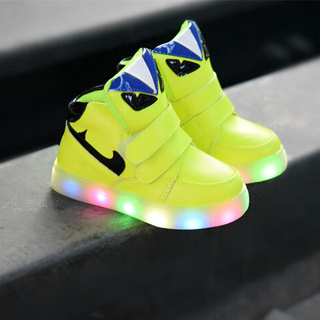 2fa1a5576 New 2016 spring Kids Children's shoes led lights shoes Baby Boys and Girls  sports shoes Child sneakers bright Toddler Shoes