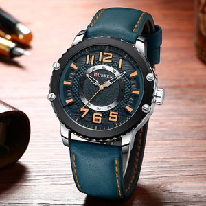 Image 3 - New Leather Watches Mens Top Brand CURREN Fashion Mens Clock Causal Business Quartz Wristwatch Gift Relogio Masculino