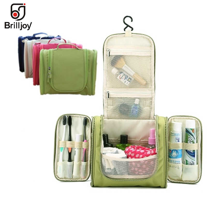 d935e2a9dbd1 Brilljoy Unisex Travel Wash Gargle Bag Portable Hanging Wash Makeup  Organizer Bag High Capacity Women Big