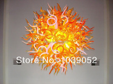 European houes decorative colored blown glass chandelier light (BGC201857)
