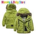 Jaqueta Com Capuz Quente Jaqueta Casaco de inverno para o Menino de 3-8 anos de idade das Crianças Outwear Casaco Com Zíper Marca casaco Jaqueta