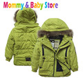 Winter Coat for Boy's Jacket Hooded Warm Jacket  3-8 years old Children's Outwear Zipper Coat Brand Overcoat Jacket