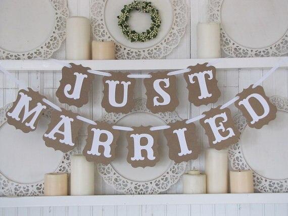 Aliexpress.com : Buy 100% Handmade vintage JUST MARRIED flag ...