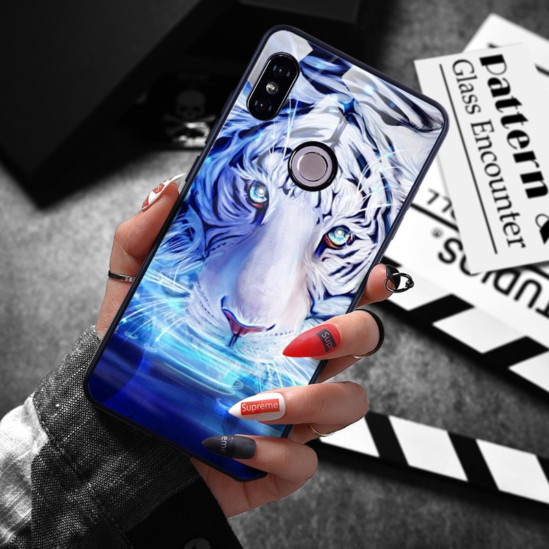 note 5 phone cases Tempered Glass Case For Xiaomi Redmi Note 5 5 Pro 5 Plus Note 4X Case Luxury Animal Pattern Case For Xiaomi Mi 8 A1 5X Coque (2)