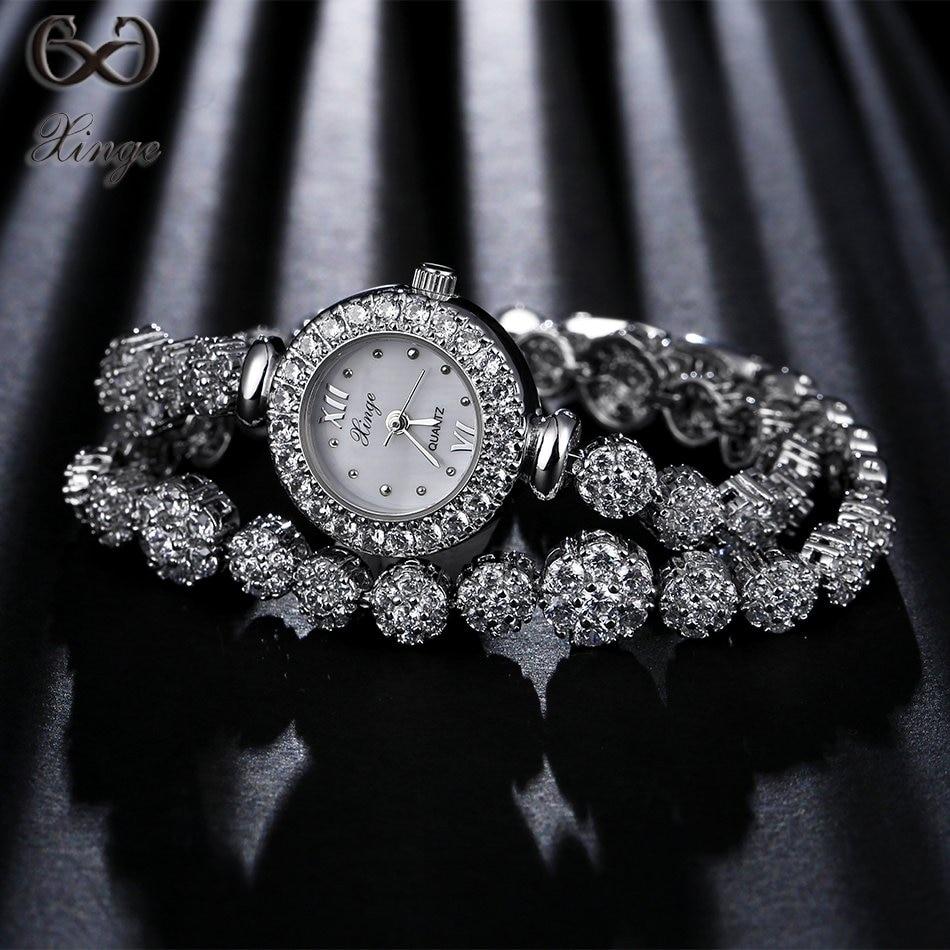 Xinge Brand High Quality 2017 Luxury Fashion Silver Watches Women Long Band Wristwatch Ladies Zircon Dress Bracelet Dress Clock new russian keyboard for asus n76 n76v n76s n76vm n76vb n76vj n76vz ru laptop keyboard with backlit palmrest upper