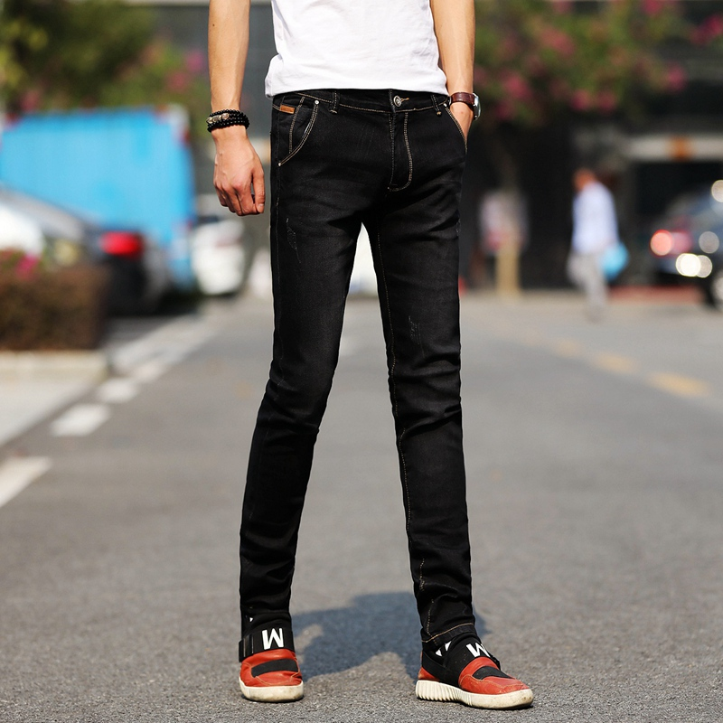 Men Slim Stretchy Jeans High Quality Men Skinny Pencil Pants Denim Jeans Men Spring Autumn Casual Long Jeans Size 38