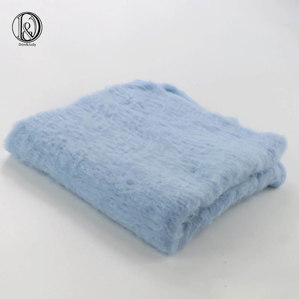Wool 50x50cm Newborn Baby Blanket Fluffy Wool Newborn Photography Props Basket Filler Stuffer