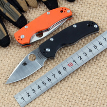 Spyderco C41 Pocket Folding Knife D2 Blade G10 Handle Camping Multi Tools Utility Outdoor Survival Tactical Hunting knives
