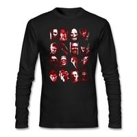 Man Vriendin Customised t-shirt Volwassen Horror Movie Pictogrammen Vector Art Maat L Horror Tekens Hi-Straat Shirts Outfits Blouse