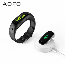 AOFO Bluetooth Headphones Fitness Tracker with Business affairs Smart  Bracelet Heart Rate Monitor Pedometer