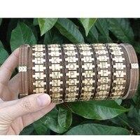 ¡Nuevo! Leonardo Da Vinci juguetes educativos madera cerraduras Cryptex regalo Ideas regalo de Navidad para casarse amante escapar habitación accesorios L1749