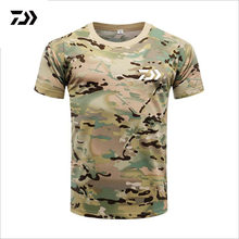 Men DAIWA Fishing T Shirt Summer Man Short Sleeve Camouflage Fishing Clothing Outdoor Sport Breathable Quick Dry Fishing Clothes(China)