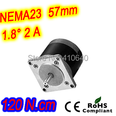 Round shape 10 pieces per lot step motor 23HR40-2004S  L 100 mm Nema 23 with 1.8 deg  2 A  120 N.cm and  bipolar 4 lead wires