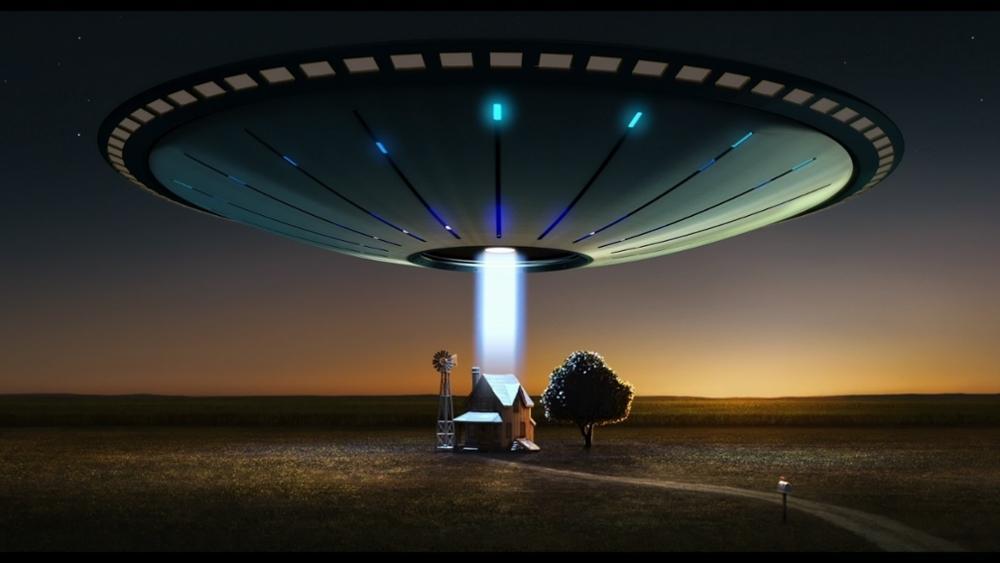 Sci Fi Ufo Spaceship Spacecreft Humor Farm Landscapes Buildings House Aliens 4 Sizes Home Decor Canvas
