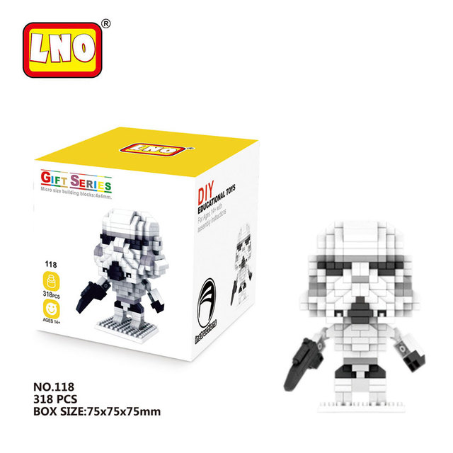 LNO Nano Blocks Hot Selling Vader Master Yoda Star Wars Anime Action Figures Hand Toys Micro Brick Educational Toy For Children