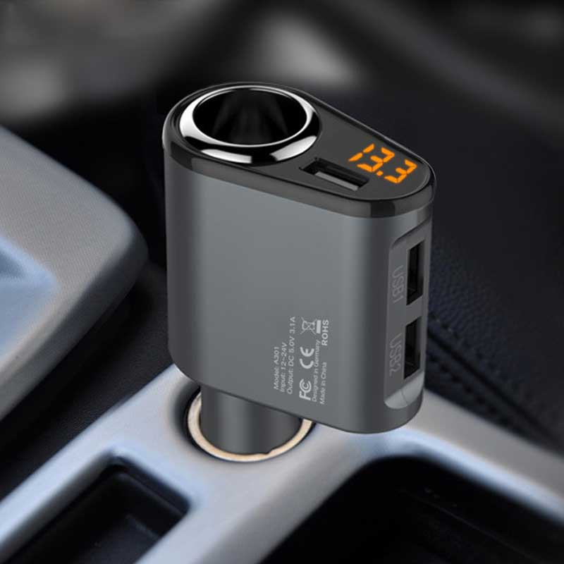 Car Charger 3 USB Ports 5V 3.1A Car-s