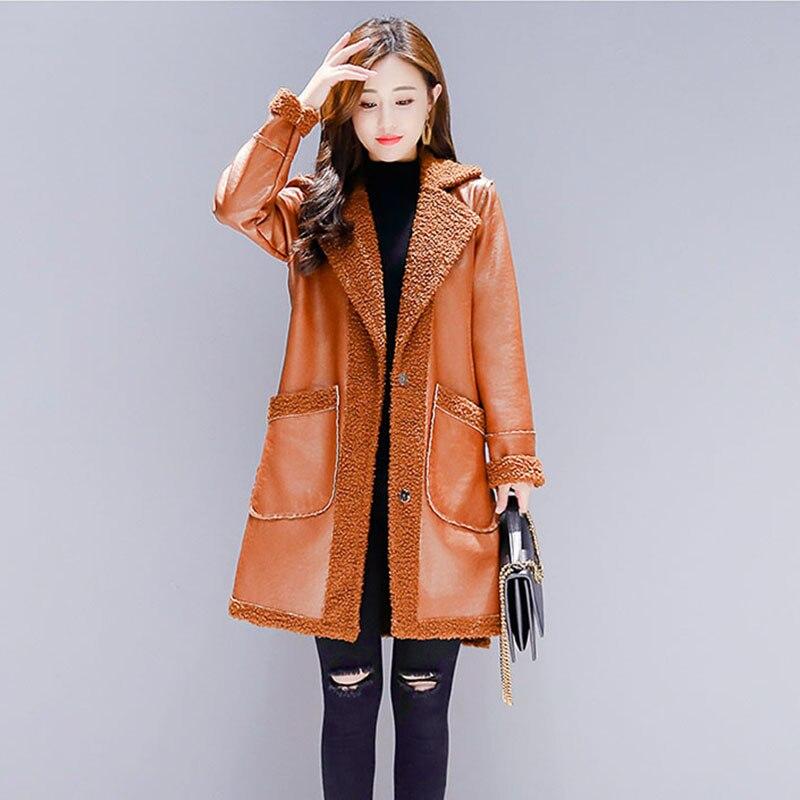 Vestes army Poche Faux Femmes Orange De Veste Longue Bouton Fourrure Peluche Chaud Nw999 Survêtement 2018 En Green Manteau D'hiver Moelleux Femelle wP8Xn0kO