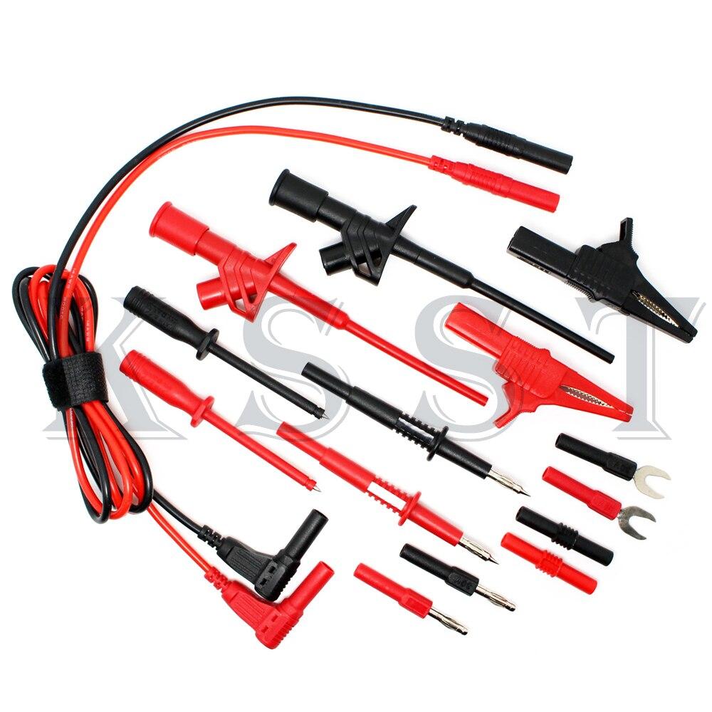 DMM320 Multimeter industry test tool kids sets.Piercing Clip test line alligator clip Tip probe test probe sets