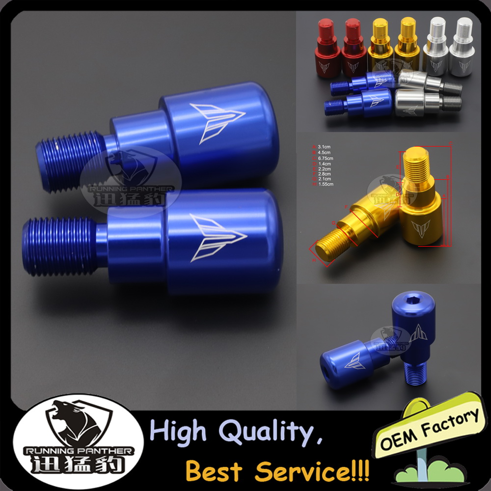 Handlebar Grips Bar End Plug Caps For Yamaha MT-125 MT125 MT 125 2014-2017 2015 2016 Motorcycle Accessories CNC Slider Aluminum