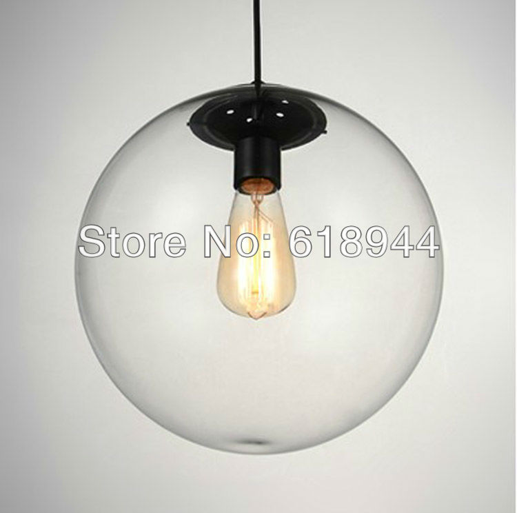 HOT Selling 25 CM Clear Glass Ball Pendant Lights for Dining Room Modern, Hanging Bar Lights Light Fixtures Free Shipping free shipping hot selling 1m pcs led aluminum profile for led strips with milky or clear cover and end caps clips