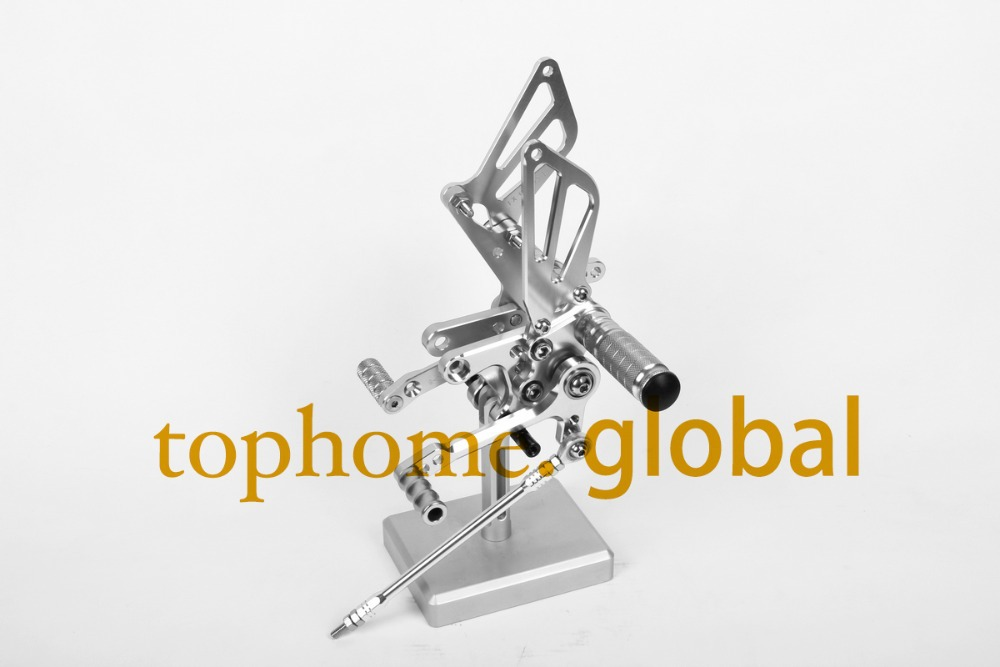 Free Shipping Motorcycle Silver CNC Rearsets Foot Pegs Rear Set For Suzuki SV650 SV650S motorcycle foot pegs