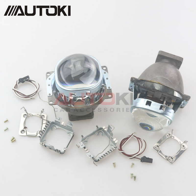 Free Shipping 3 0 HID Bi xenon Projector Lens Koito Q5 Square Headlight Use D1S D2S