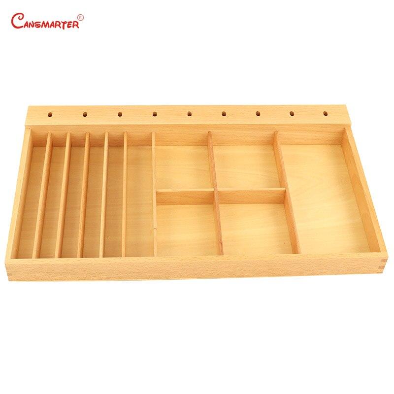 Début éducatif Montessori colle pâte boîte coupe activité d'exercice pour maternelle vie compétence jouet hêtre bois matériaux PR024-3
