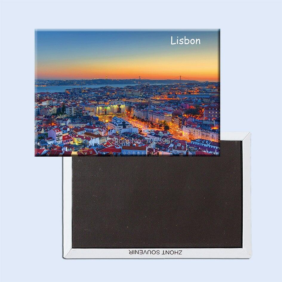 Portugalsko Lisabon město Cestování Souvenir Lednice Magnety 20794