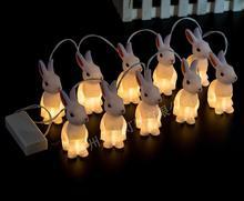 Rabbit strip light LED warm white color christmas decorations light LED for home christmas strip lights christmas gift rabbit