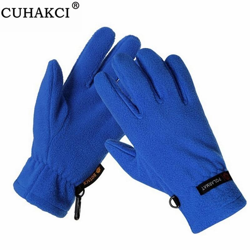 CUHAKCI Mountain Guantes Motorcycle Gloves Winter Mittens Male Warm Fleece Glove Windproof Climb Deportes Glove Women Mittens