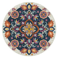 Round Mandala Flower Carpet Bedroom Living Room Bedside Slip Creative Floor Mat