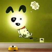 FENGLAIYI съемная теплая и интересный 220 В DIY обои светодиодный освещение ночник украшения дома Освещение в помещении лампа