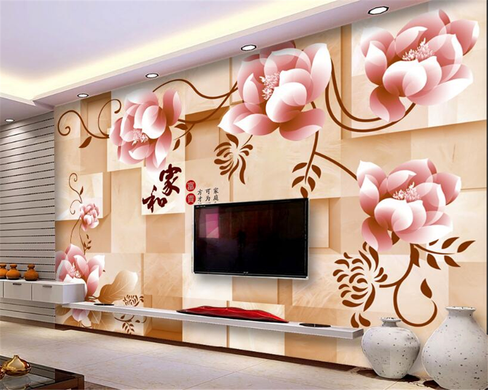 beibehang Wallpaper Fashion Modern Dream Flower Backdrop Wall papel de parede 3d papier peint photo wallpaper photo wall mural xchelda custom modern luxury photo wall mural 3d wallpaper papel de parede living room tv backdrop wall paper of sakura photo