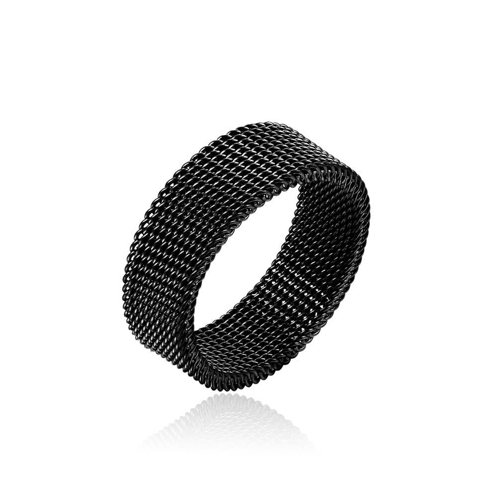 Мужское и женское кольцо из нержавеющей стали, золотистое и черное кольцо на палец, 8 мм