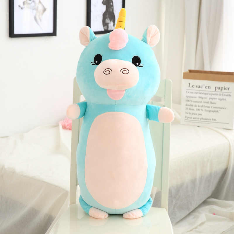 60 cm/85 cm/unids felpa Animal almohada juguetes suave bebé almohada sofá cojín peluche unicornio gato perro cerdo muñecas lindos niños regalos
