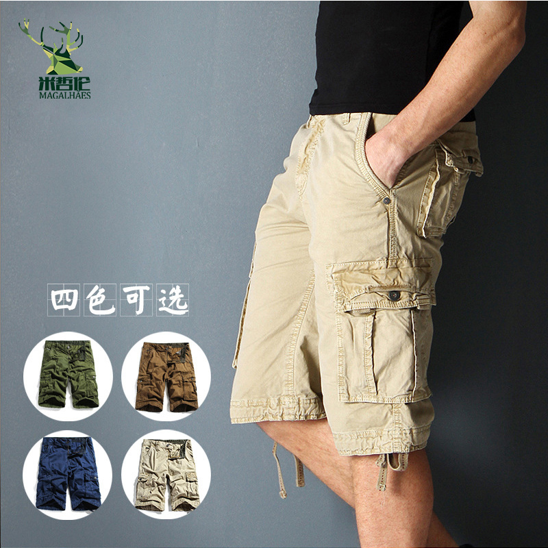 Mens Military Cargo Shorts 2016 Brand New Army Casual Shorts Men Cotton Loose Work Casual Short Pants Plus Size 30-40