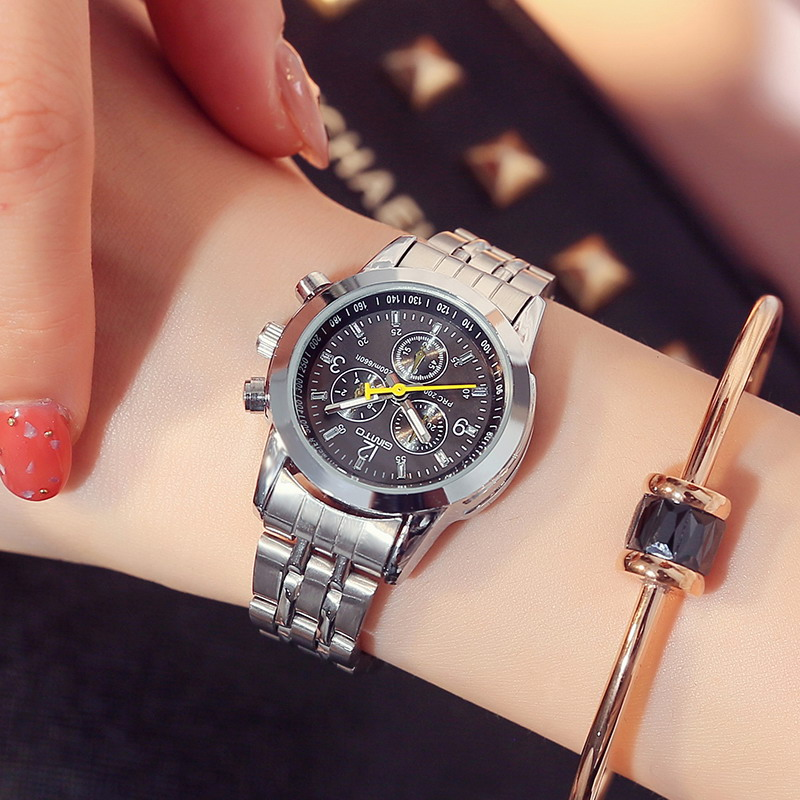 GIMTO 2018 Women Bracelet Watches Steel Dress Lady Lovers Quartz Watch Female Male Fashion Casual Wristwatch relogio feminino 2