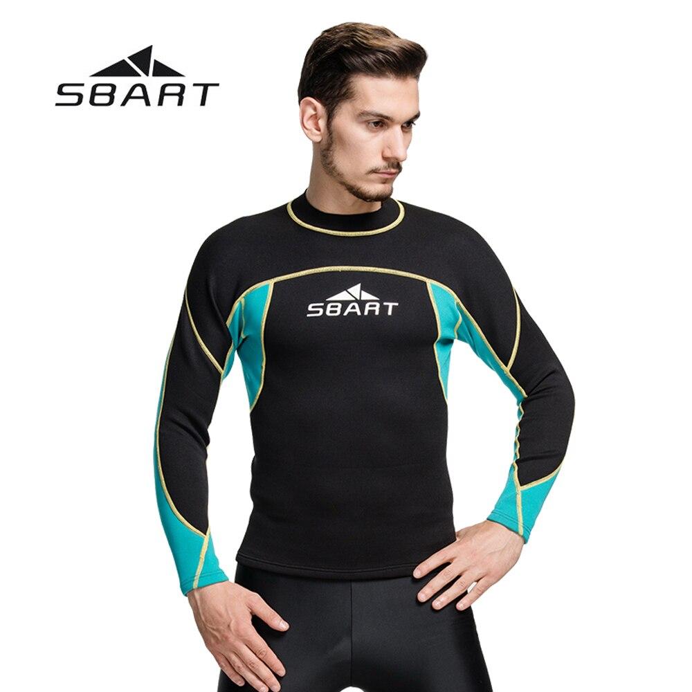 SBART 2mm Combinaison Plongée Équipement de Plongée combinaison de Plongée En Apnée Maillots De Bain Kite Surf À Manches Longues Tops et T-Shirt Hommes Maillot de Bain
