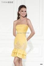 Tarik Ediz 2016 Cocktailkleider Mini Mantel Kurzes Kleid Party Prom cocktailkleider
