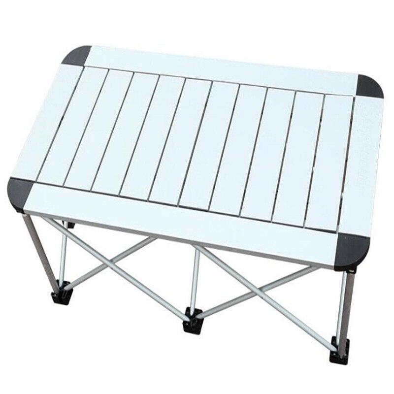 100*53*54 CM en alliage d'aluminium Table pliante Portable en plein air Camping Table Barbecue Table pique-nique bureau publicité bureau